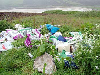 Flytipping at Waulkmill, Orphir.