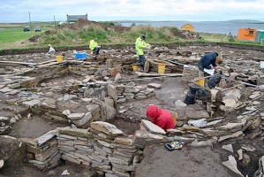 Excavations at the Ness of Brodgar.