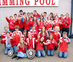 Members of the Orkney Swimming Club