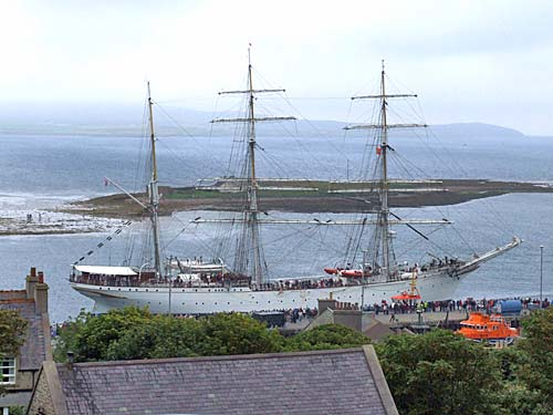 The Statsrad Lehmkuhl arriving in Stromness just before 4pm this afternoon.