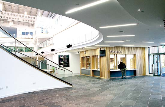The entrance and reception area of the new KGS. (www.theorcadianphotos.co.uk)