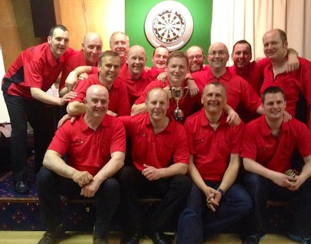 The men's team who beat their Shetland rivals.
