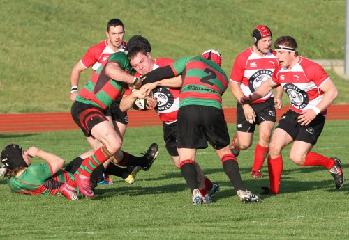Action from Orkney rugby club's last home game against Highland — a 33-8 victory.