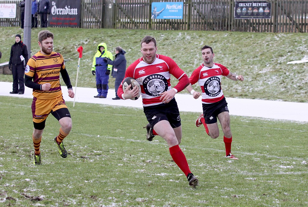 Marcus Guthrie was Orkney's Man Of The Match in last week's match v Ellon.