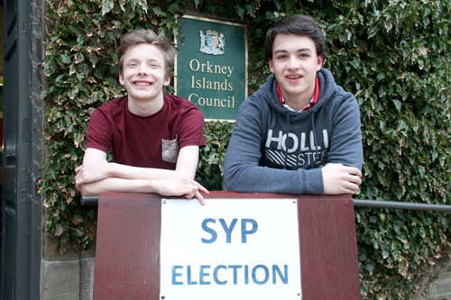 Thorfinn Moffat and Jack Norquoy, Orkney's Members of the Scottish Youth Parliament for the next two-year term