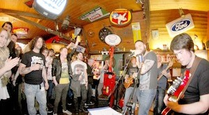 Music at the Auld Motorhoose, Kirkwall.Electric Mother3/4/15Tom O'Brien