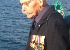 Kenneth Toop pictured during an HMS Royal Oak memorial service in Scapa Flow. (Picture: Craig Taylor)
