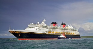 The Disney Magic will depart at 6pm tomorrow.