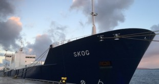 The Skog tied up at Hatston on Wednesday morning. (Picture: Craig Taylor)