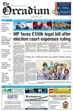 Front page Thursday Feb 10