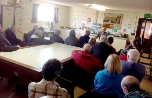 Yesterday's air ambulance meeting in North Ronaldsay.
