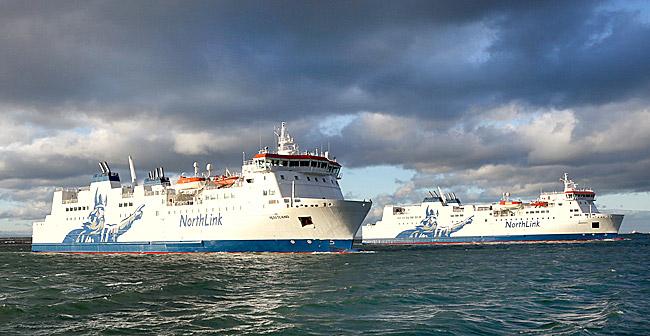 The NorthLink ferries Hrossey and Hjaltland. (Serco NorthLink)