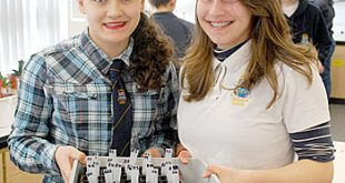 KGS pupils Jasmine Hall and Rachael Evans with their seeds.