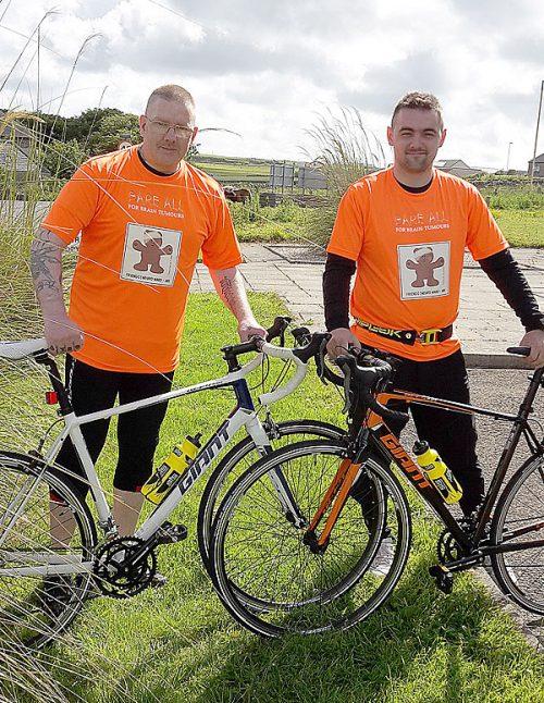 David and Kyran Taylor will set of on a fundraising 100km cycle ride around Kirkwall tomorrow, Sunday.