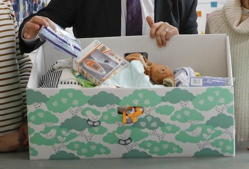 The Scottish Government's new 'baby box'.