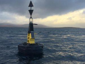 HMS Vanguard buoy, north of Flotta.
