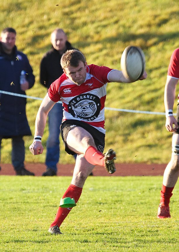 Outside centre kicked eight of Orkney's points this afternoon.