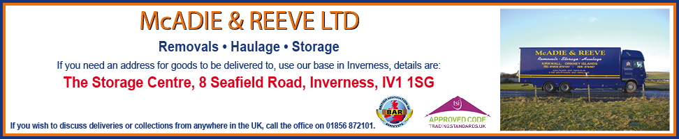 McAdie & Reeve - removals, haulage and storage.