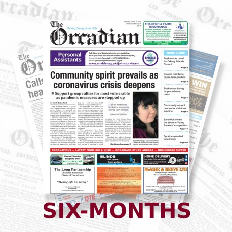 Six-month subscription to The Orcadian newspaper Print Edition