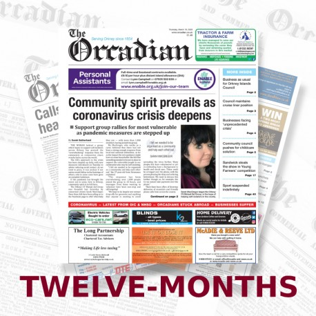 Twelve-month subscription to The Orcadian newspaper Print Edition