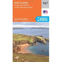 Shetland - Mainland Central - 467 - OS Explorer Map