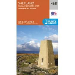 Shetland - Mainland North East - 468 - OS Explorer Map