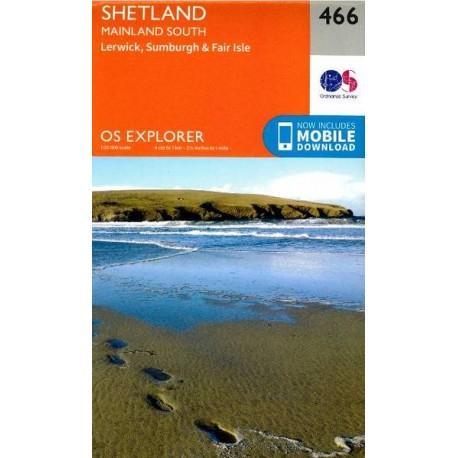 Shetland - Mainland South - 466 - OS Explorer Map