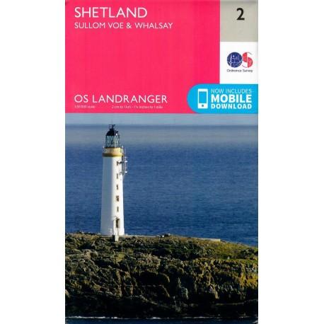 Shetland - Sullom Voe and Whalsay - 2 - OS Landranger Map