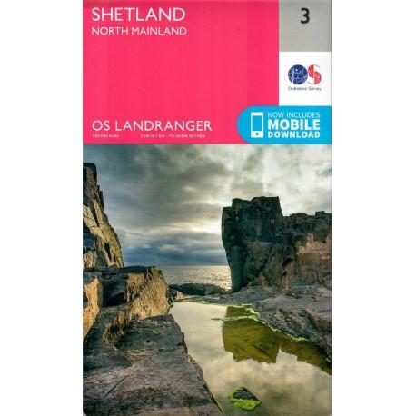 Shetland - North Mainland - 3 - OS Landranger Map