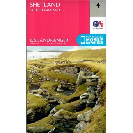 Shetland - South Mainland - 4 - OS Landranger Map