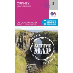 Orkney - Northern Isles - 5 - OS Landranger ACTIVE Map