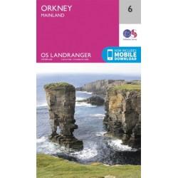 Orkney - Mainland - 6 - OS Landranger Map