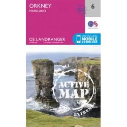Orkney - Mainland - 6 - OS Landranger ACTIVE map