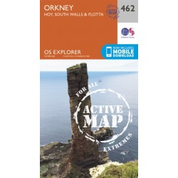 Orkney - Hoy, South Walls and Flotta - 462 - OS Explorer ACTIVE Map
