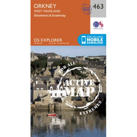 Orkney - West Mainland - 463 - OS Explorer ACTIVE Map