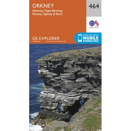 Orkney - Westray, Papa Westray, Rousay, Egilsay and Wyre - 464 - OS Explorer Map