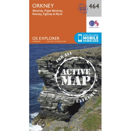 Orkney - Westray, Papa Westray, Rousay, Egilsay and Wyre - 464 - OS Explorer ACTIVE Map
