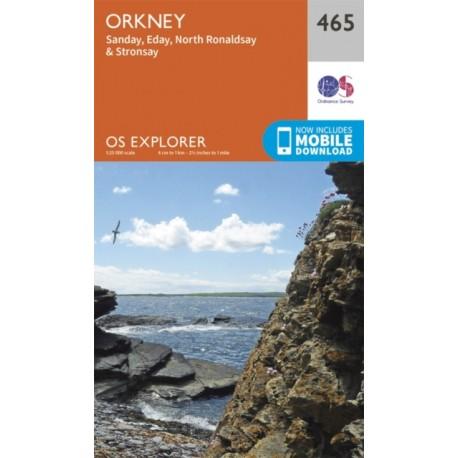 Orkney - Sanday, Eday, North Ronaldsay, Stronsay - 465 - OS Explorer Map