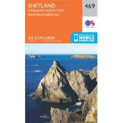 Shetland - Mainland North West - 469 - OS Explorer Map