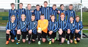 The Kirkwall Grammar School Under 15 side that beat Alford Academy on penalties to progress in the Scottish Schools' Cup.