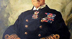 Part of the summer exhibition at the Orkney Museum is this portrait of The photo attached is a portrait of Admiral Sir John Jellicoe, which has loaned to the museum by the Jellicoe family.