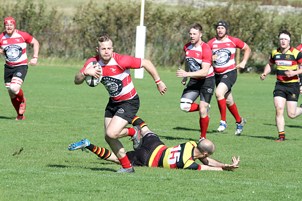 Orkney RFC beat Greenock 88-7 today at Pickaquoyt.10/9/16Tom O'Brien