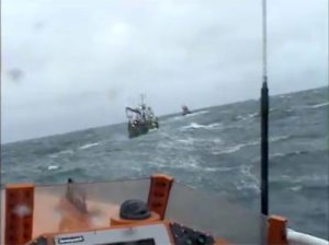 Video shows conditions at sea during 'Sunrise' rescue