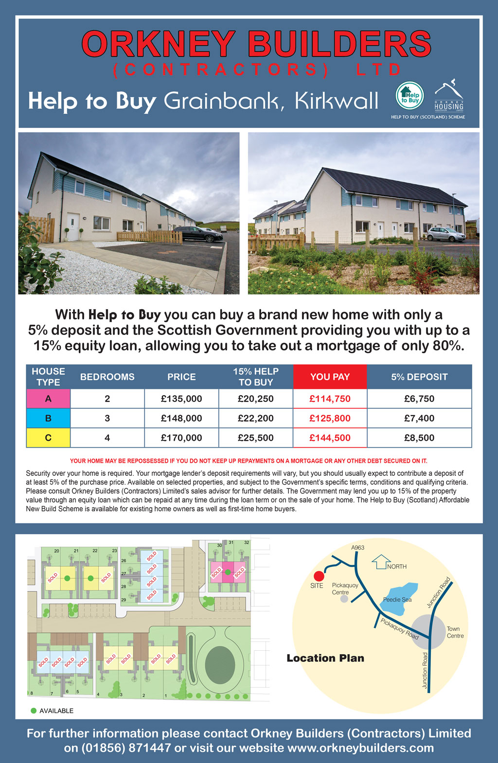 Orkney Builders - Help to buy Grainbank, Kirkwall