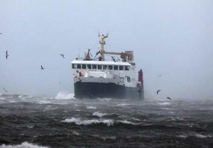 High winds disrupt ferry services