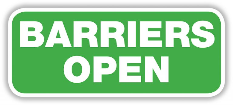 Barriers reopen