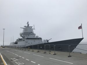 Norwegian frigate on short stay in Orkney