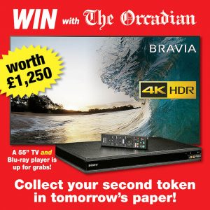 Win with The Orcadian – collect your second token in this week's newspaper