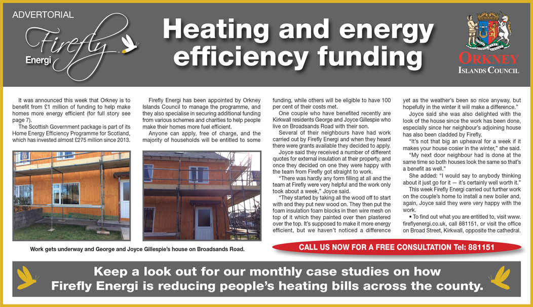Firefly Energi Orkney - Heating and energy efficiency