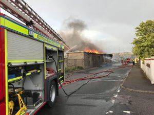 Firefighters tackle Kirkwall blaze